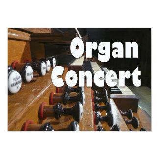 """El concierto del órgano invita - a la consola invitación 5"""" x 7"""""""
