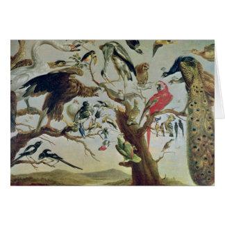 El concierto del pájaro tarjeta de felicitación