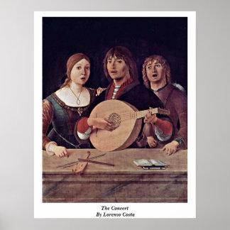 El concierto por la costa de Lorenzo Poster