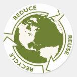 el conco va logotipo verde pegatinas redondas