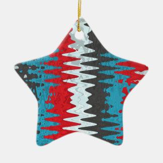 el concurso clava 11x17.png adorno navideño de cerámica en forma de estrella