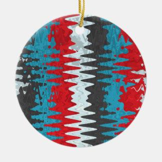 el concurso clava 11x17.png adorno navideño redondo de cerámica