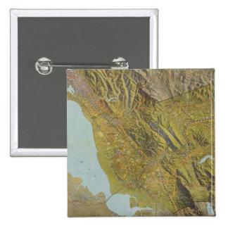 El condado de Alameda, California Pin Cuadrada 5 Cm