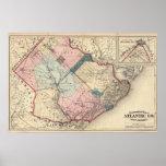El condado de Atlantic, NJ Póster