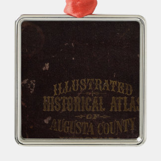El condado de Augusta, Virginia Adorno Cuadrado Plateado