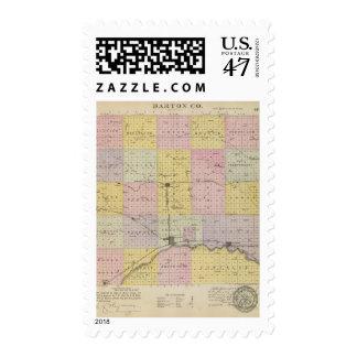 El condado de Barton, Kansas Sellos Postales