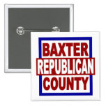 "El condado de Baxter Repubican 2"" x 2"" botón cuadr Pin"