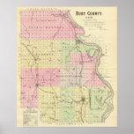 El condado de Burt, Nebraska Póster