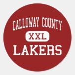 El condado de Calloway - Lakers - altos - Murray K Pegatinas Redondas