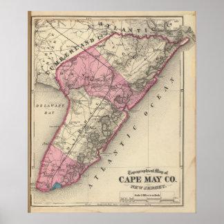 El condado de Cape May, NJ Poster