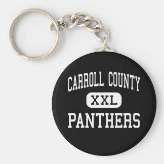El condado de Carroll - panteras - alto - Carrollt Llavero Redondo Tipo Pin