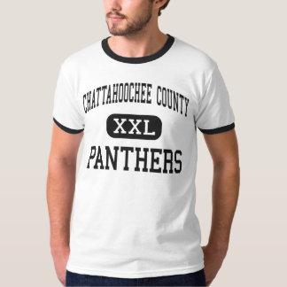 El condado de Chattahoochee - panteras - alto - Cu Playeras