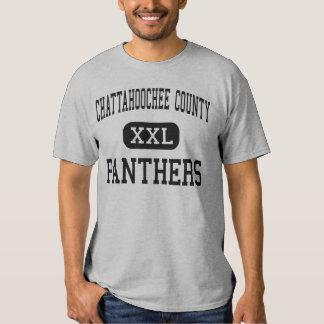 El condado de Chattahoochee - panteras - alto - Playera