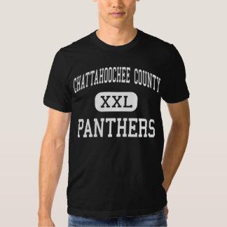 El condado de Chattahoochee - panteras - alto - Playeras