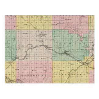 El condado de Chautauqua, Kansas Tarjeta Postal