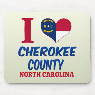 El condado de Cherokee, Carolina del Norte Alfombrilla De Ratones
