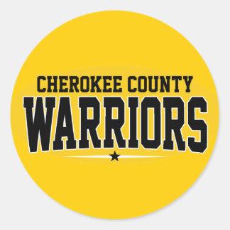 El condado de Cherokee; Guerreros Etiquetas Redondas