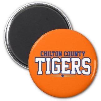 El condado de Chilton Tigres Imán De Frigorífico