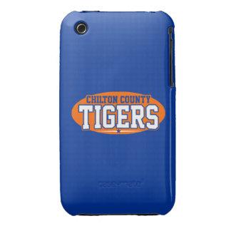 El condado de Chilton; Tigres iPhone 3 Case-Mate Cárcasa