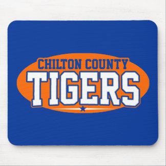 El condado de Chilton; Tigres Mouse Pad