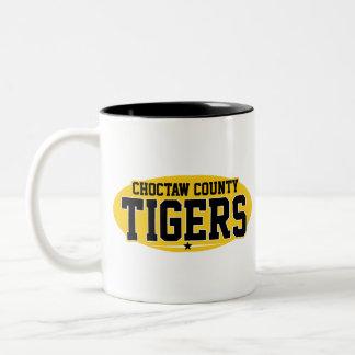 El condado de Choctaw; Tigres Taza Dos Tonos