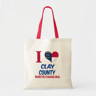 El condado de Clay, Carolina del Norte Bolsa Lienzo