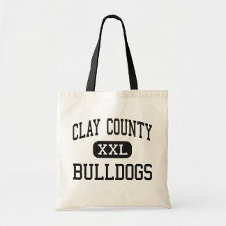 El condado de Clay - dogos - alto - Celina Tenness Bolsa Lienzo