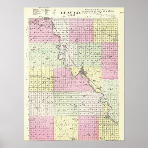 El condado de Clay, Kansas Poster