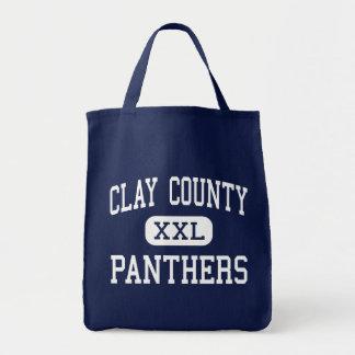 El condado de Clay - panteras - alto - arcilla Vir Bolsa De Mano