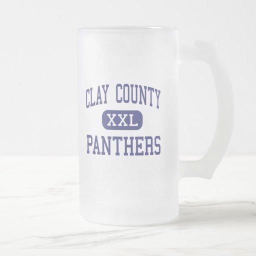 El condado de Clay - panteras - alto - arcilla Vir Taza