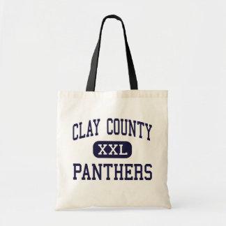 El condado de Clay - panteras - alto - Ashland Ala Bolsas De Mano