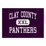 El condado de Clay - panteras - alto - Ashland Ala Felicitaciones