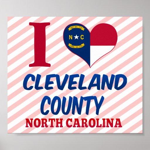 El condado de Cleveland, Carolina del Norte Posters