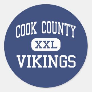 El condado de Cook - Vikingos - altos - Marais Pegatina Redonda