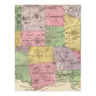 El condado de Coos NH Tarjeta Postal