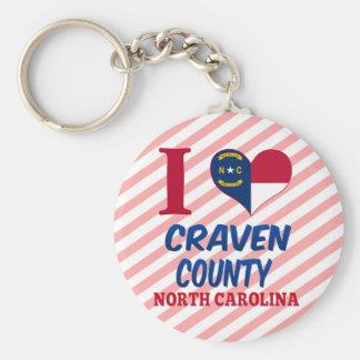 El condado de Craven, Carolina del Norte Llavero Personalizado