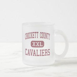 El condado de Crockett - Cavaliers - alto - Álamo Taza Cristal Mate
