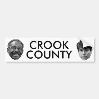 El CONDADO DE CROOK parte 2 Etiqueta De Parachoque