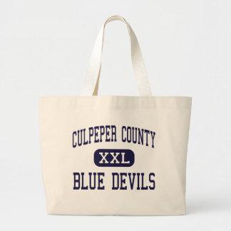 El condado de Culpeper - diablos azules - alto - C Bolsas Lienzo
