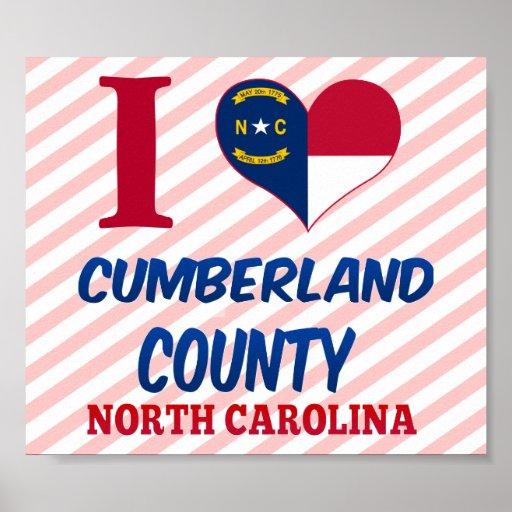 El condado de Cumberland, Carolina del Norte Posters