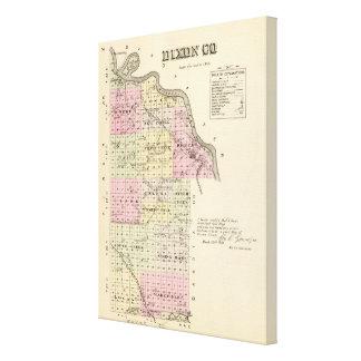El condado de Dixon, Nebraska Impresion De Lienzo