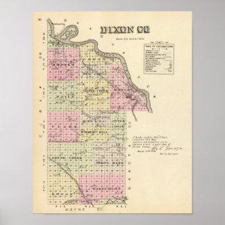 El condado de Dixon, Nebraska Impresiones