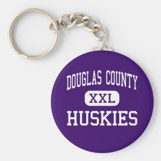 El condado de Douglas - perros esquimales - alto - Llaveros Personalizados