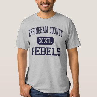 El condado de Effingham - rebeldes - alto - Remera