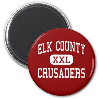 El condado de Elk - cruzados - católico - santo Ma Imán Redondo 5 Cm