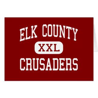 El condado de Elk - cruzados - católico - santo Ma Tarjeta De Felicitación