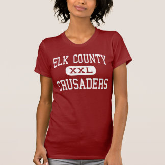 El condado de Elk - cruzados - católico - santo Playera
