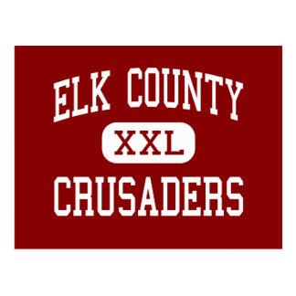 El condado de Elk - cruzados - católico - santo Postales