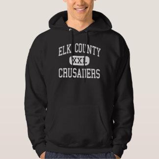 El condado de Elk - cruzados - católico - santo Sudadera