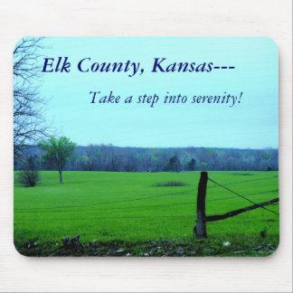 El condado de Elk, Kansas--- ¡Tome una medida en s Mousepad